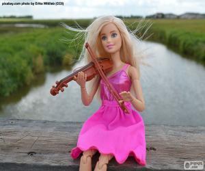 Puzzle de Barbie tocando el violín