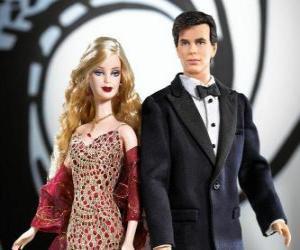Puzzle de Barbie y Ken muy elegantes