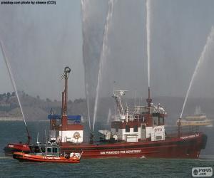 Puzzle de Barco contra incendios