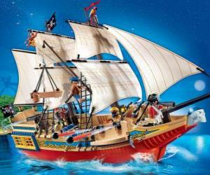 Puzzle de Barco pirata de Playmobil