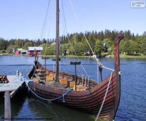 Puzzle de Barco vikingo o drakkar