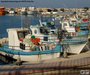 Puzzle de Barcos de pescadores