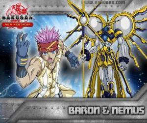 Puzzle de Baron Leltoy y su Bakugan Nemus
