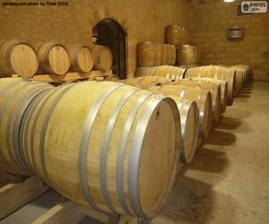 Puzzle de Barricas de vino