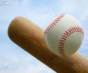 Puzzle de Bate i pelota de béisbol