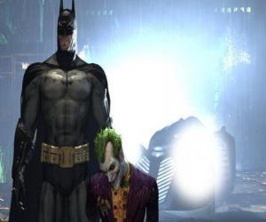 Puzzle de Batman a detenido a su enemigo el Joker o el Guasón