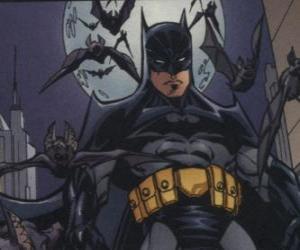 Puzzle de Batman con sus amigos, los murciélagos