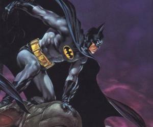 Puzzle de Batman controlando la ciudad de Gotham City