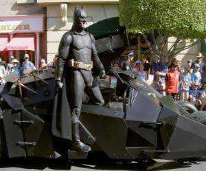 Puzzle de Batman en su Batmóvil