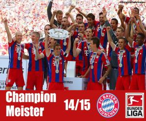 Puzzle de Bayern Múnich campeón 14-15