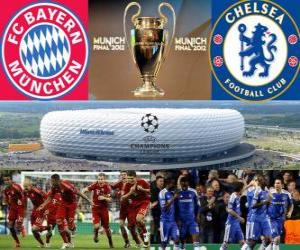 Puzzle de Bayern Munich vs Chelsea FC. Final UEFA Champions League 2011-2012. Allianz Arena, Munich, Alemania