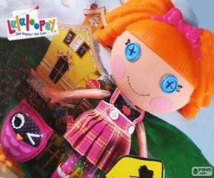 Puzzle de Bea Spells-A-Lot de Lalaloopsy con su mascota, un búho