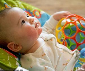 Puzzle de Bebé mirando