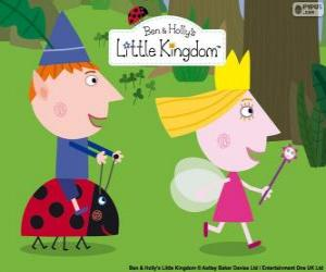 Puzzle de Ben, Holly y Gaston, tres grandes amigos en el pequeño reino