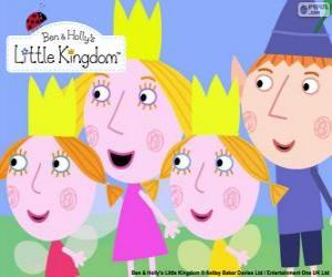 Puzzle de Ben y Holly con Daisy y Poppy