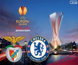 Puzzle de Benfica vs Chelsea. Final de Europa League 2012-2013 en el Amsterdam Arena, Países Bajos