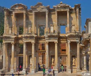 Puzzle de Biblioteca de Celso, Èfeso, Turquía