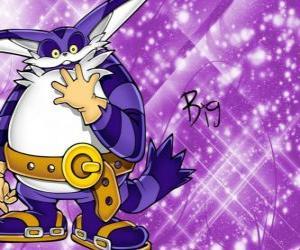 Puzzle de Big the Cat, el gran gato que aparece en las aventuras de Sonic