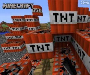 Puzzle de Bloque explosivo TNT de Minecraft
