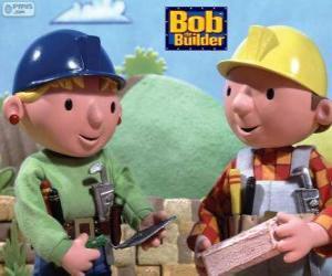 Puzzle de Bob el constructor y su socia Wendy organizando los trabajos del día