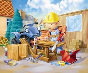 Puzzle de Bob trabajando de carpintero