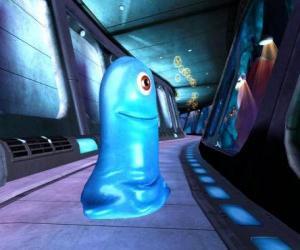 Puzzle de BOB, una masa gelatinosa azul indestructible
