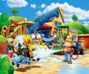 Puzzle de Bob y Wendy lavando las máquinas
