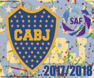 Puzzle de Boca Juniors, Superliga 2017-2018
