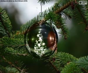 Puzzle de Bola de Navidad árbol