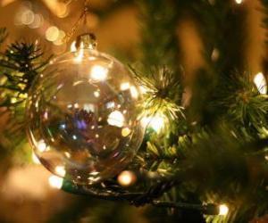 Puzzle de bola de Navidad de cristal