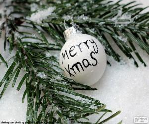 Puzzle de Bola de Navidad, Mery Xmas