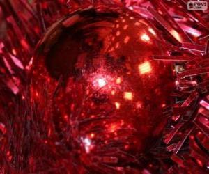 Puzzle de Bola de Navidad roja