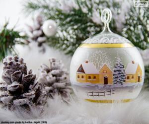 Puzzle de Bola de pueblo invernal