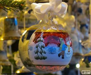 Puzzle de Bola Navidad de cristal
