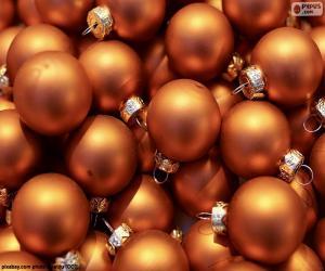 Puzzle de Bolas doradas de Navidad