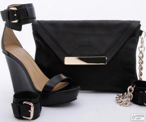 Puzzle de Bolso y zapatos negros