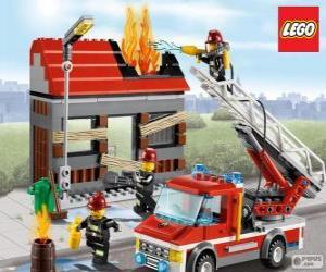 Puzzle de Bomberos de Lego