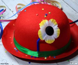 Puzzle de Bombin rojo con una flor