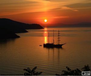 Puzzle de Bonita puesta del sol