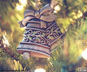 Puzzle de Bonitas campanas de Navidad