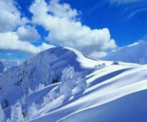 Puzzle de Bonito paisaje de invierno