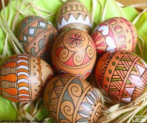 Puzzle de Bonitos Huevos de Pascua