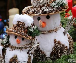 Puzzle de Bonitos muñecos de nieve