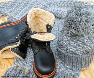 Puzzle de Botas negras de invierno