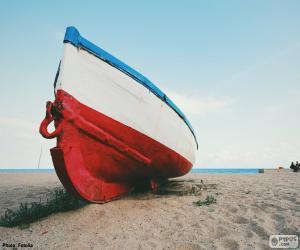 Puzzle de Bote en la playa