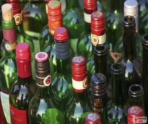 Puzzle de Botellas de vino vacías