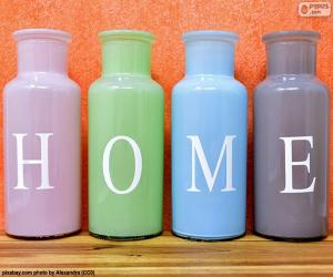 "Puzzle de Botellas ""HOME"""