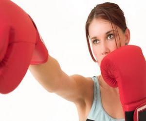 Puzzle de Boxeo - Rostro de una boxeadora