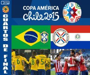 Puzzle de BRA - PAR, Copa América 15