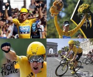 Puzzle de Bradley Wiggins campeón, del Tour de Francia 2012